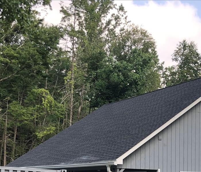 roof of a house that appears to be new