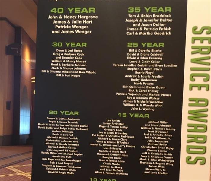 20 Years with SERVPRO!