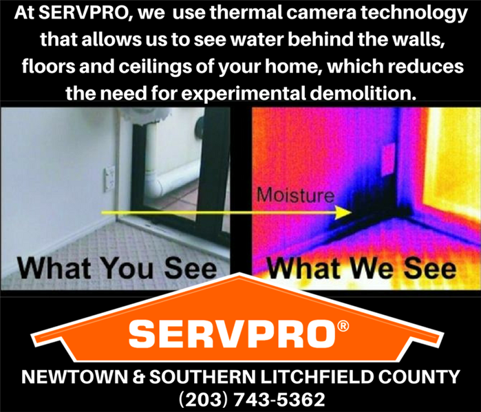 The tools we use: Thermal Imaging to detect hidden water damage in Newtown, CT homes