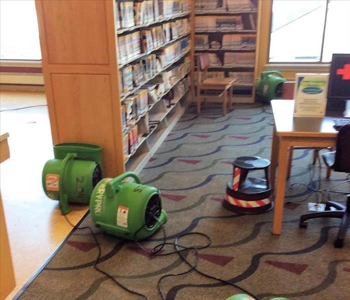 Water damage at Fairfield County library