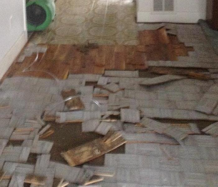 Water Damage from a burst pipe in Southbury, CT vacant home