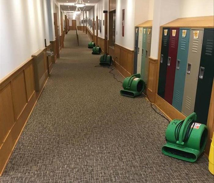 Water restoration at Ridgefield, CT school after burst pipe