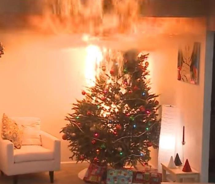 Fire Damage Choosing and Caring for a Christmas Tree to Avoid a Home Fire