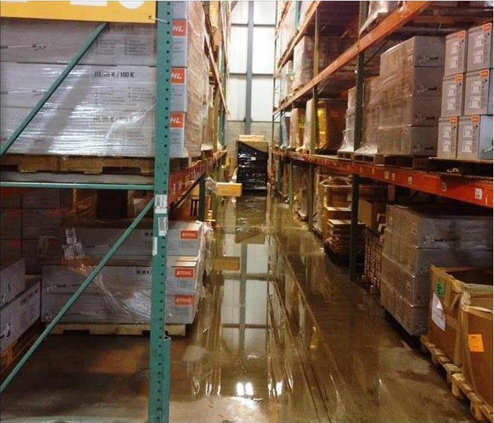 warehouse with flooding